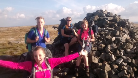 Gold 2015 Girls group summit Whernside